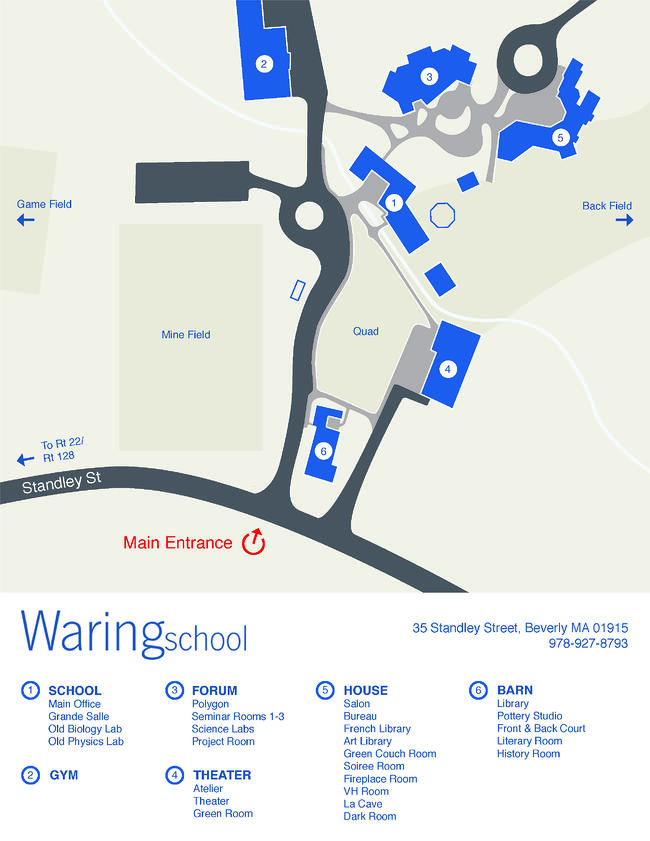 Salem College Campus Map.Directions Waring School